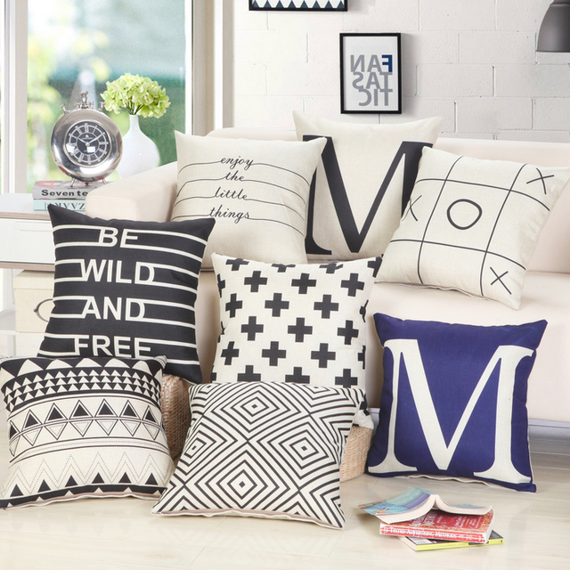 New Arrival European Cushion Home Car Throw Pillows Cases Cotton and Linen Pillows Decorative Throw Pillowcase Oct06
