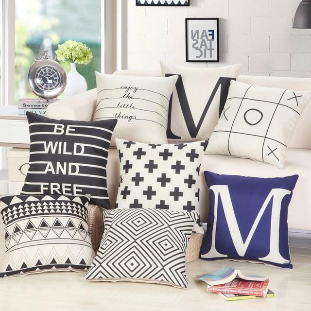 New Arrival European Cushion Home Car Throw Pillows Cases Cotton and Linen Pillows Decorative Throw Pillowcase Oct06