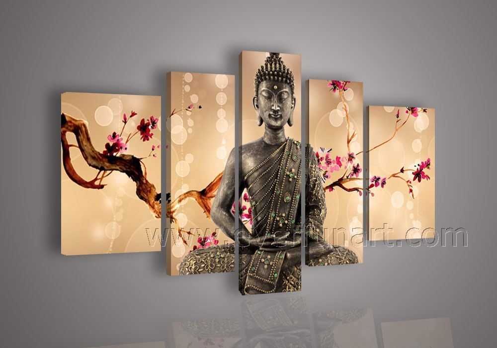 aliexpresscom buy free shipping hand painted buddha painting with frame canvas framed modern wall art for decor from reliable paintings that are famous