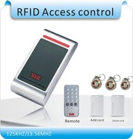 Aluminum metal shell waterproof RFID125KHZ entrance guard system, admin card (remote control) register/ delete user card