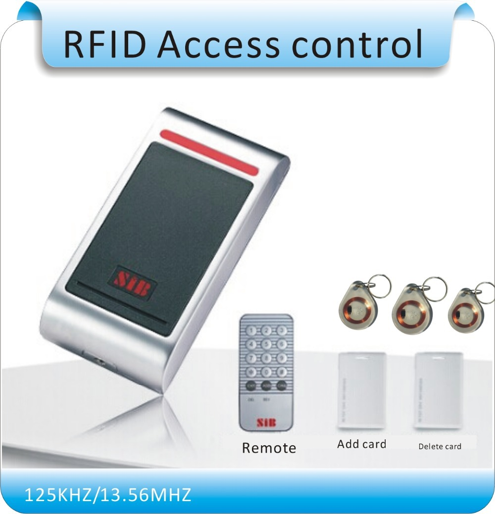 Aluminum metal shell waterproof RFID125KHZ entrance guard system, admin card (remote control) register/ delete user card admin area