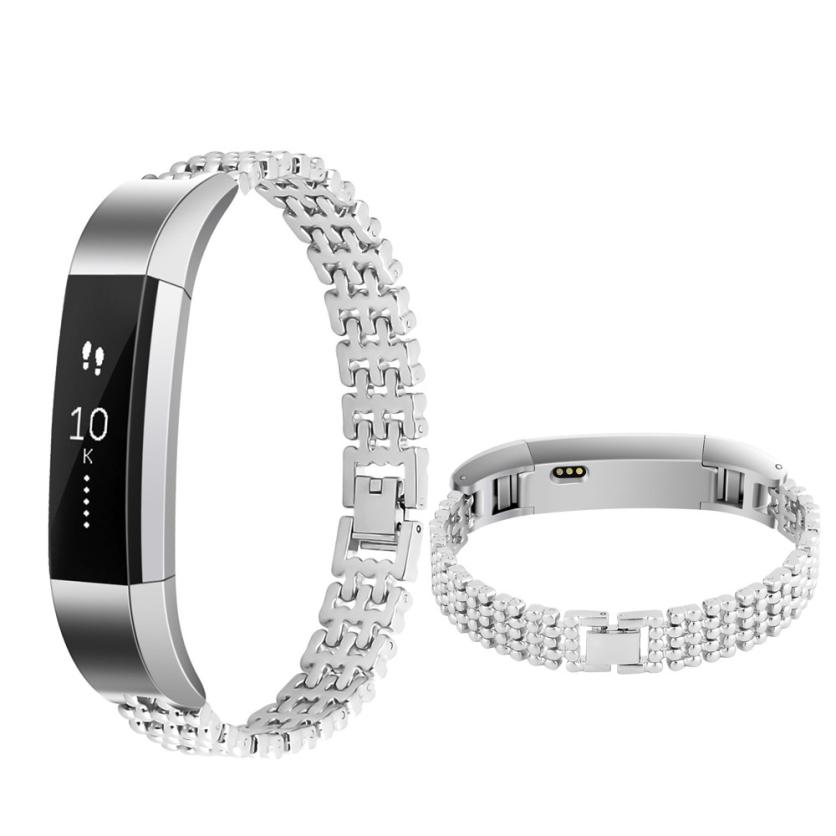 HIPERDEAL Wearable Devices Smart Accessories Stainless Steel Watch Band Wrist strap For Fitbit Alta Smart Watch jan11