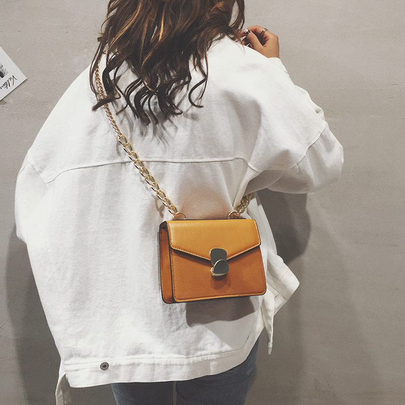 MOFFT Women Flap Bags Messenger PU Leather Crossbody Black Red Yellow Ladies Luxury Lock Ladies Solid Quality Fashion Bag
