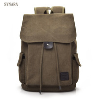 Senkey Style Men Backpack Vintage Casual Canvas Backpack School Bags For Male Men S Large Backpacks
