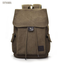 Senkey style Men Backpack Vintage Casual Canvas Backpack School Bags For Male Men's Large Backpacks For 14Inch Laptop Backpack(China)