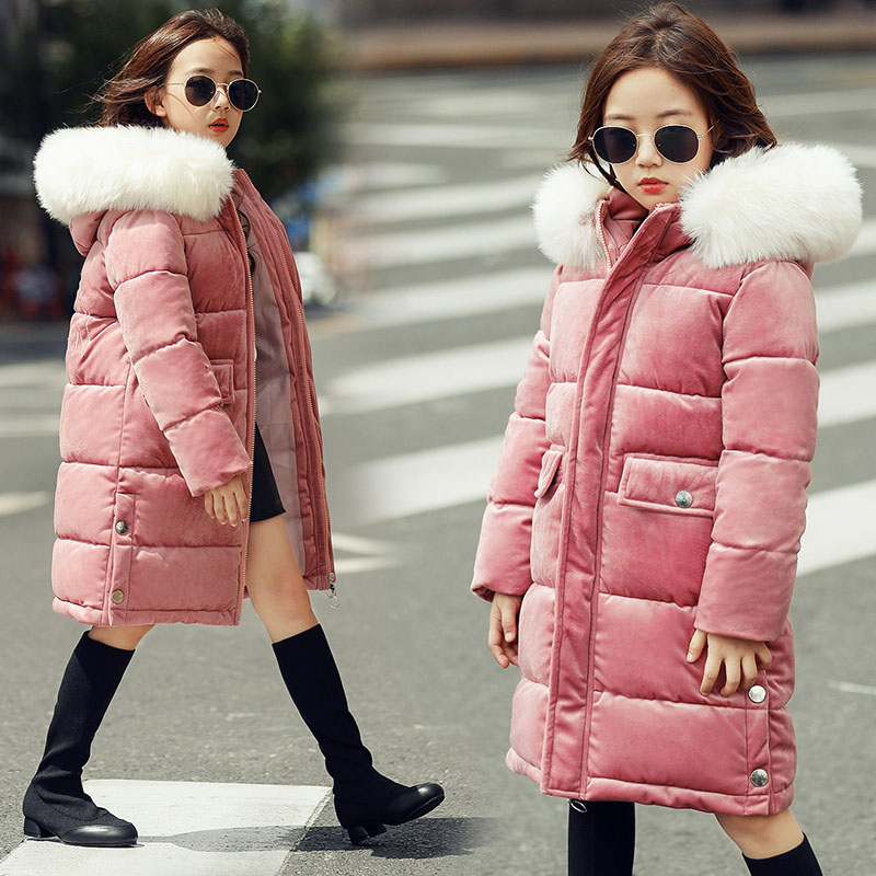 2018 Children Winter Coat Girls Jackets Kids Winter Cotton Parkas Baby Girls Coat Girl Outerwear Coats Thickened Warm Jacket 2018 fashion children s cotton parkas winter outerwear coats thickened warm jackets baby boy and girl faux fur coat