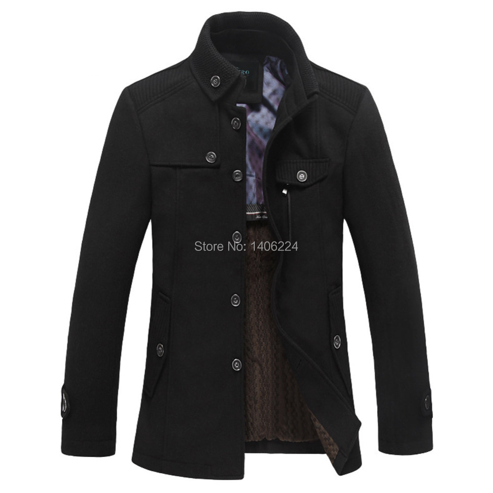 Online Shop Clearance Sale!Casaco Masculino Mens Pea Coat Wool ...