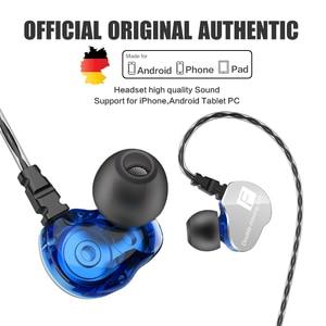 Image 2 - Genuine QKZ CK9 Earphones Dual Driver With Mic gaming headset mp3 DJ Field Headset audifonos fone de ouvido sem fio auriculares