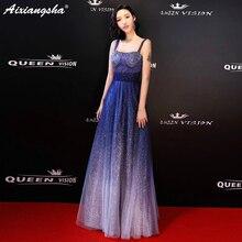 2018 New Fashion Shining Plus Size Celebrity Dresses Red Carpet Long Dress Elegant Contrast Color Cheap Party Dress Sereia