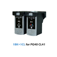PG40 CL41 Compatible Ink Cartridge Replacement for Canon PG 40 CL 41 PIXMA iP1800 iP1200 iP1900 iP1600 MX300 MX310 MP160 printer