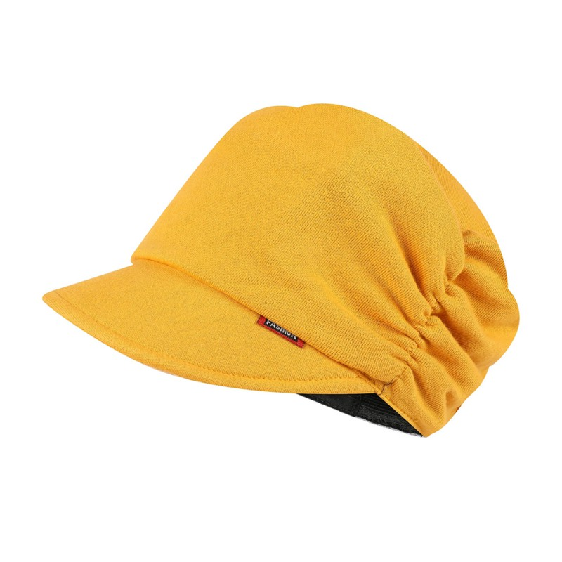 Beret Cap Lady Breathable Stretch Fluffy Hat Solid Color Outdoor Autumn Winter Headwear  Accessories