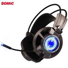 Somic G954 игровая гарнитура с вибрацией 7,1 Virtual Surround USB игры наушники с микрофоном для портативный компьютер Gamer