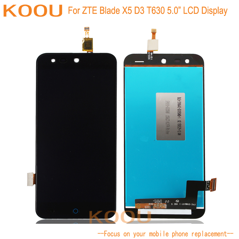 LCD Display For <font><b>ZTE</b></font> Blade X5 D3 <font><b>T630</b></font> Touch Screen senor Digitizer Assembly Replacement Phone Parts For <font><b>ZTE</b></font> Blade X5 D3 <font><b>T630</b></font> image