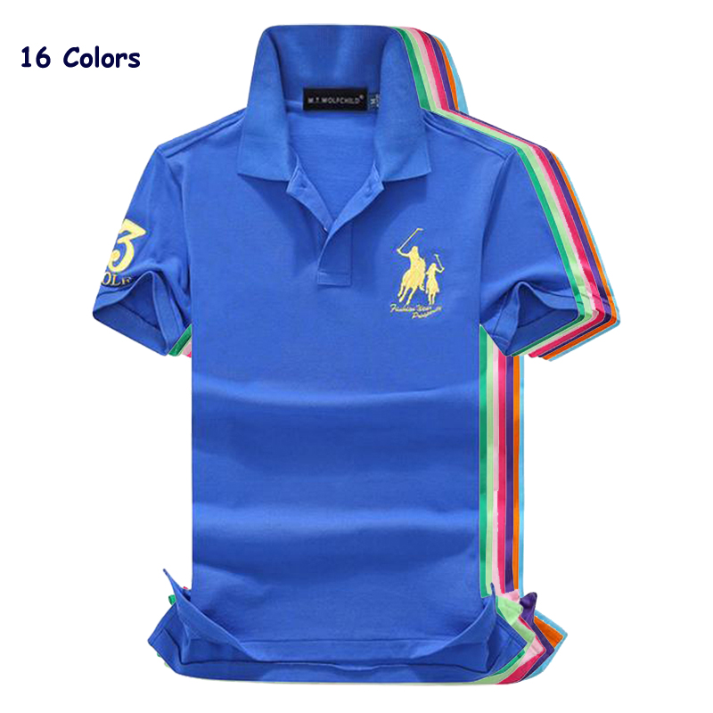 High quality 2018 Summer horsebrand Men's short sleeve   polos   shirts casual cotton mens lapel   polo   shirts fashion slim mens tops