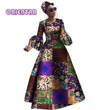 2018 африканские платья для женщин новый африканский dashiki рче платье для женщин Африка женщины с длинными рукавами праздничное платье Большие размеры WY2868