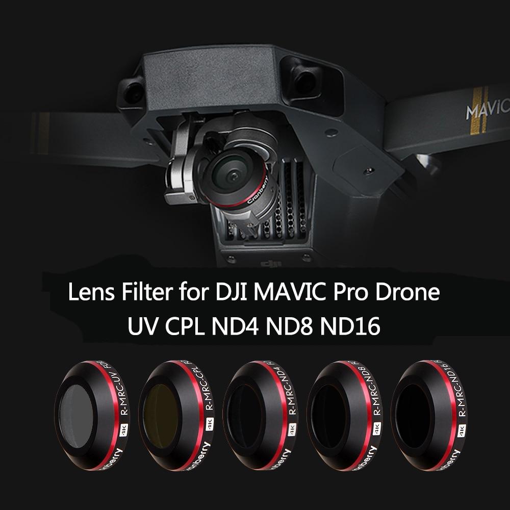 5 Pieces DJI Mavic Pro Platinum Drone Camera lens filter bundle CPL ND4 ND8 ND16 UV