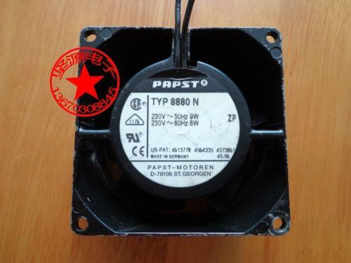 1pcs PAPST 230V fan TYP 8880N 8CM 220V industrial fan