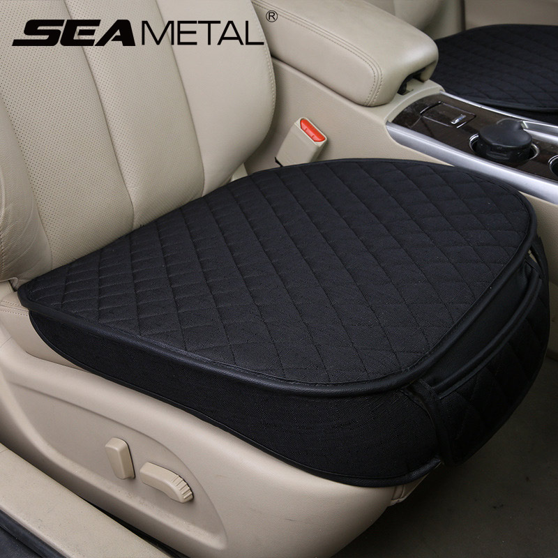 Car Styling Automobiles Seat Cover Breathable Flax Car Seat Covers Set Universal Auto Seats Cushion Pads Protector Accessories-in Automobiles Seat Covers from Automobiles & Motorcycles