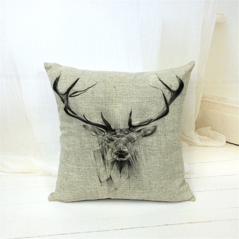 Cotton Linen Giraffe print Cushion Cover Rustic <font><b>Elegant</b></font> Car Pillowslip <font><b>Home</b></font> <font><b>Decoration</b></font> Pillowcase for Office Sofa