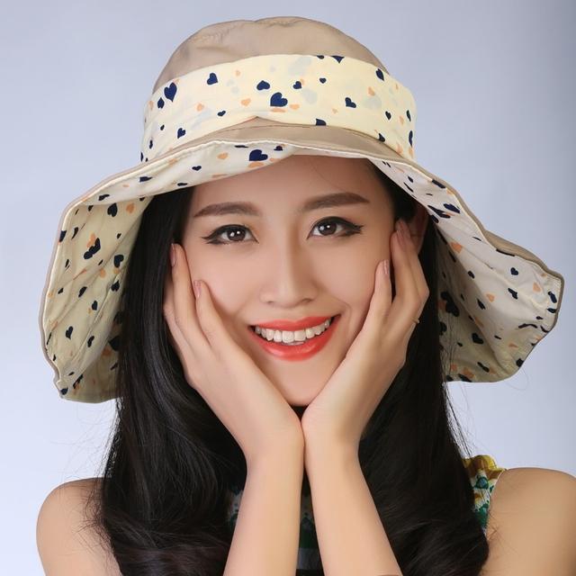 2016 nueva primavera verano otoño mujeres de la Manera Plegable Grande Ancho Brim Floppy Sun fold punto encantador Floppy Cloche bowler Hat Cap
