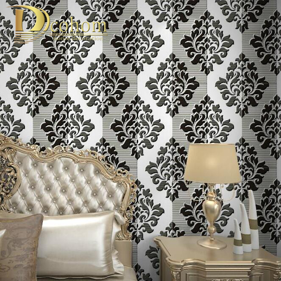 Online kopen wholesale wit damast behang uit china wit damast ...
