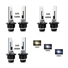 цена на 2x D2R 35W HID Xenon Headlight Bulb HID Bulbs With Metal Bracket Protection 4300K 6000K 8000K D2R XENON HID Auto Headlamp Light