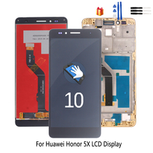 Original For Huawei Honor 5X Touch Screen Digitizer LCD Display Phone Parts For Honor 5X Screen LCD Display Free Tools for nokia n95 not n95 8gb n96 original phone lcd screen digitizer display free tools free shipping