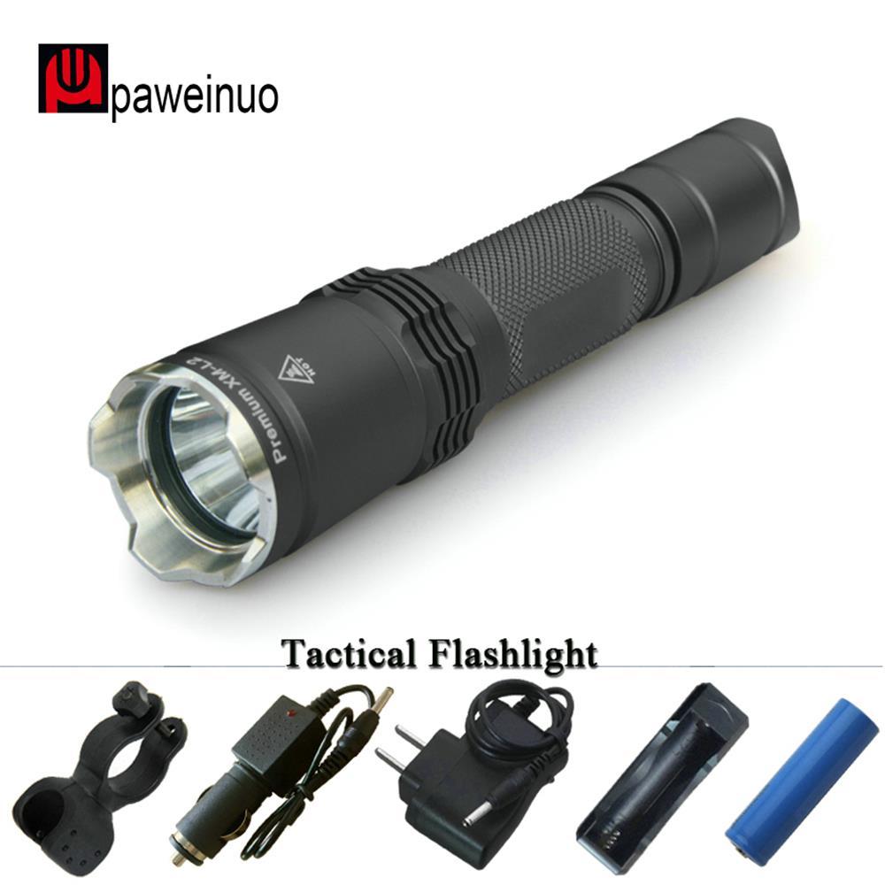 Soldat lampe de poche LED importations US CREE xml T6 mèche lampe torche 2 m lampe étanche sous-marine 1*18650 utilisation pendant 104 heures