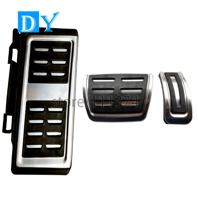 Free Punch Stainless Steel Foot Rest Pedals Gas Fuel Pedals Brake Pedal Automatic For Audi A3 2014 VW Golf7 Golf 7 Octavia 2014