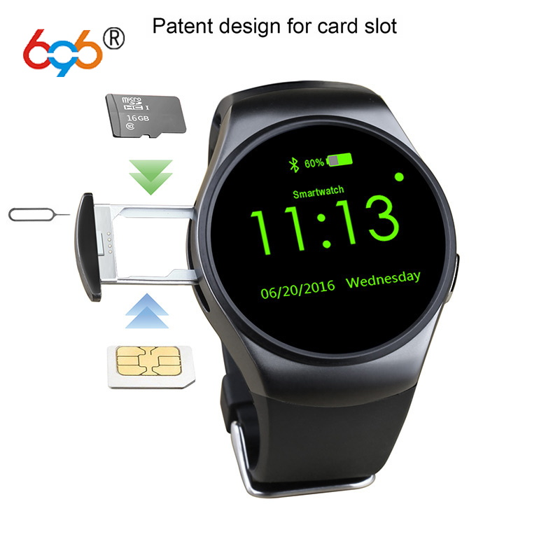 696 KW18 Round Screen Bluetooth Smart Watch SIM card Heart Rate Monitoring цена