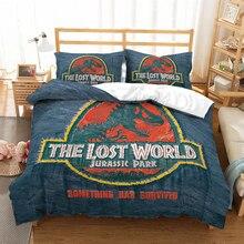 Jurassic Park 3D bedding set Children room decor Duvet Covers Pillowcases dinosaur comforter bedclothes bed linen