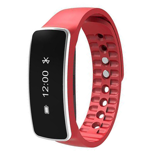 Smart Wrist Band Bracelet Watch Sleep Sports Fitness Activity Tracker Pedometer Colour Red