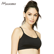 Missomo 2017 New Sexy Women Solid Color Fitness Bra Breathable Sports Back Closure Backless Hollow Out Summer