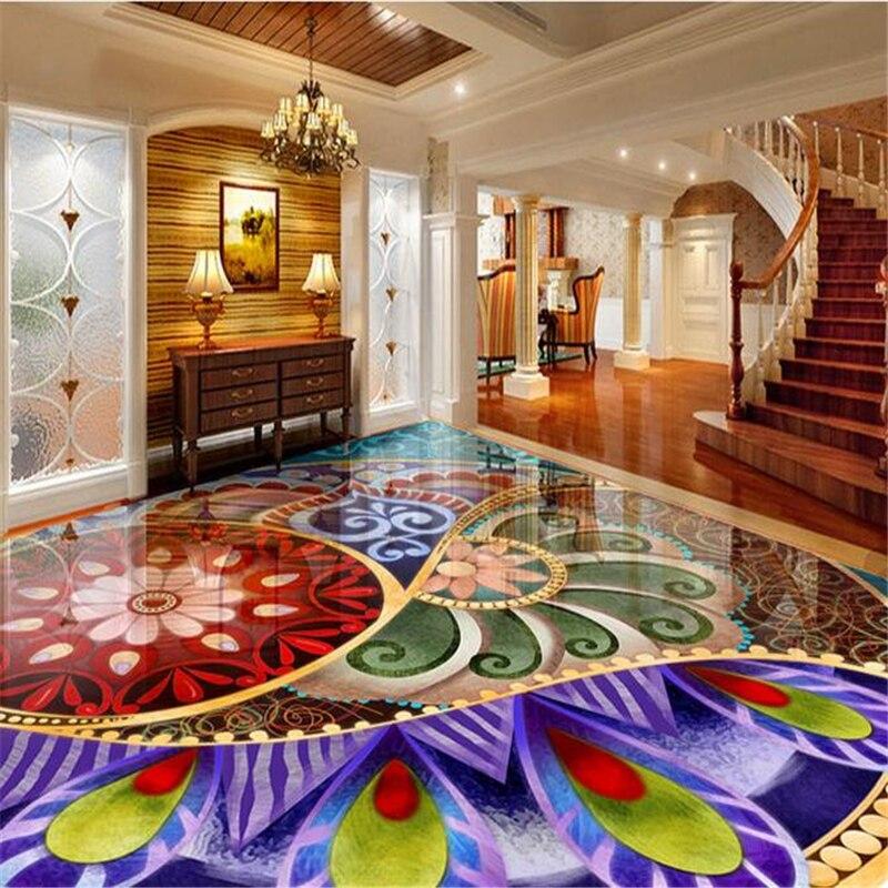 Buy beibehang 3d wallpaper custom pvc for Home flooring stores