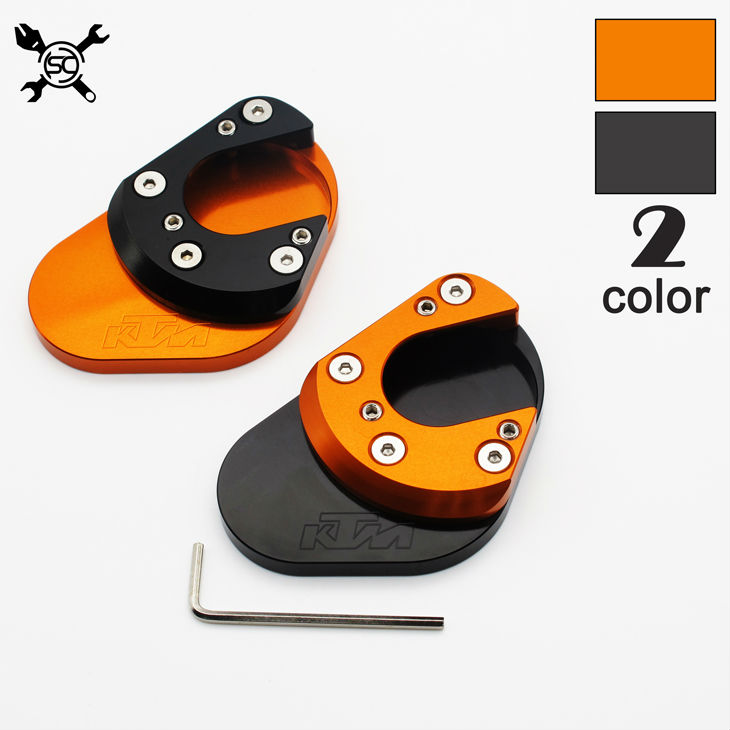 Flat Foot Side Stand Extension Pad Plate Fit For <font><b>KTM</b></font> Duke RC 125 200 390 Enduro Supermoto <font><b>SM</b></font> SMC Adventure 690 <font><b>950</b></font> 990 image