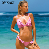 OMKAGI Bikini Swimwear Swimsuit Bathing Suit Sexy Bikinis Set Women Push Up Maillot De Bain Femme