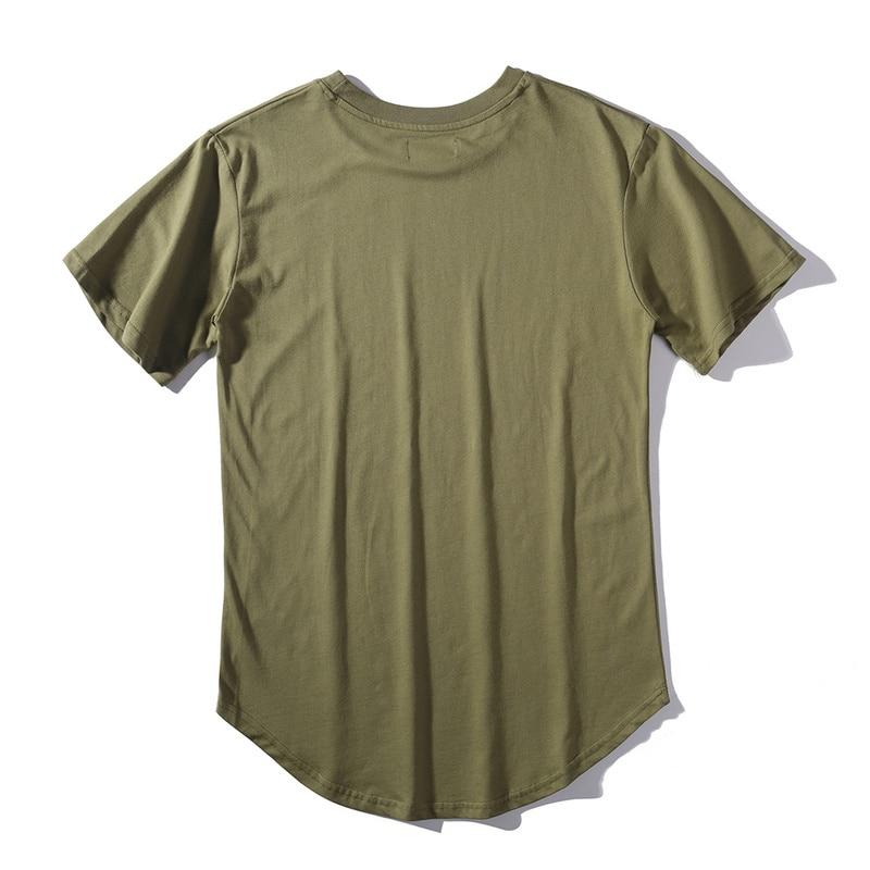HIPFANDI 2018 Yaz erkek T Gömlek Kanye West Genişletilmiş T-Shirt - Erkek Giyim - Fotoğraf 3