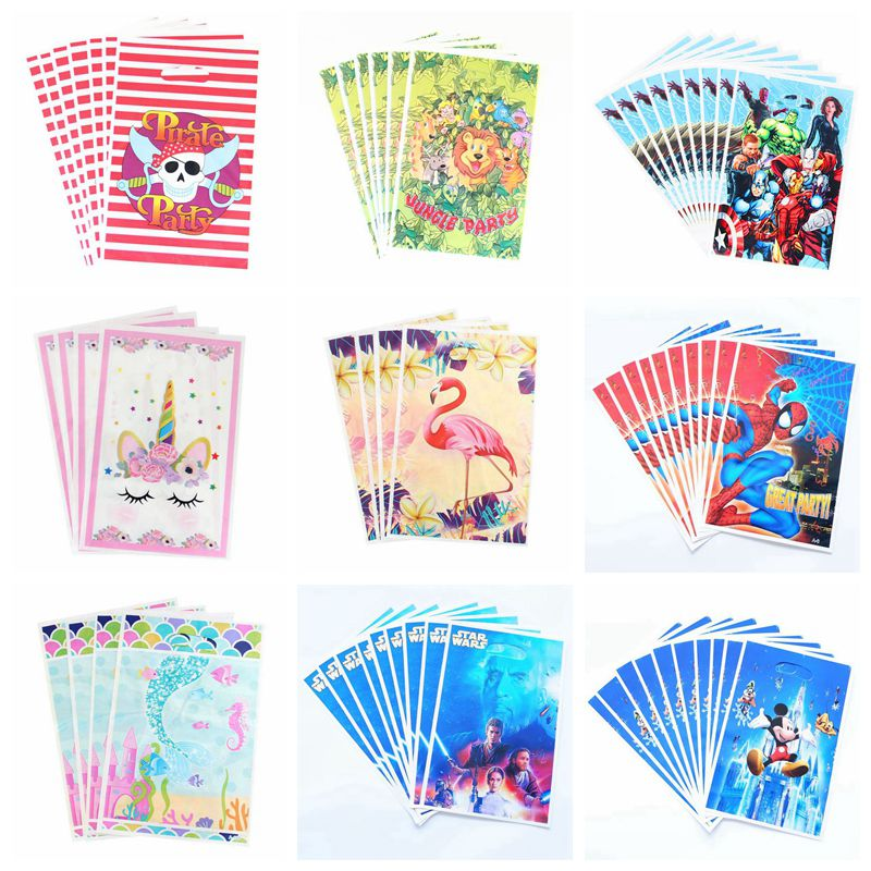 Gift Bags Loot-Bag Wedding-Decoration Spiderman Candy Birthday-Party Mickey Child Super-Hero
