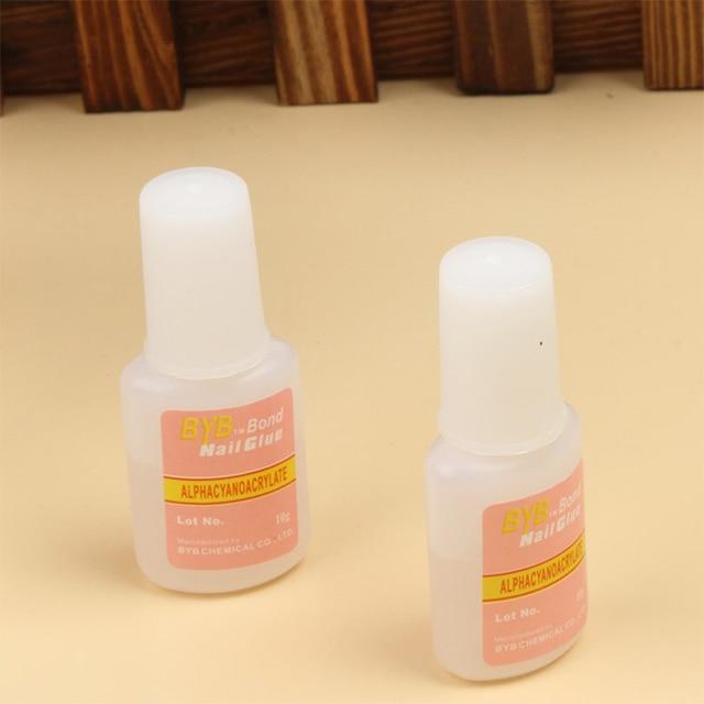 1 bottle 10g pink New Nail Art Glue Tips Glitter Uv Acrylic ...