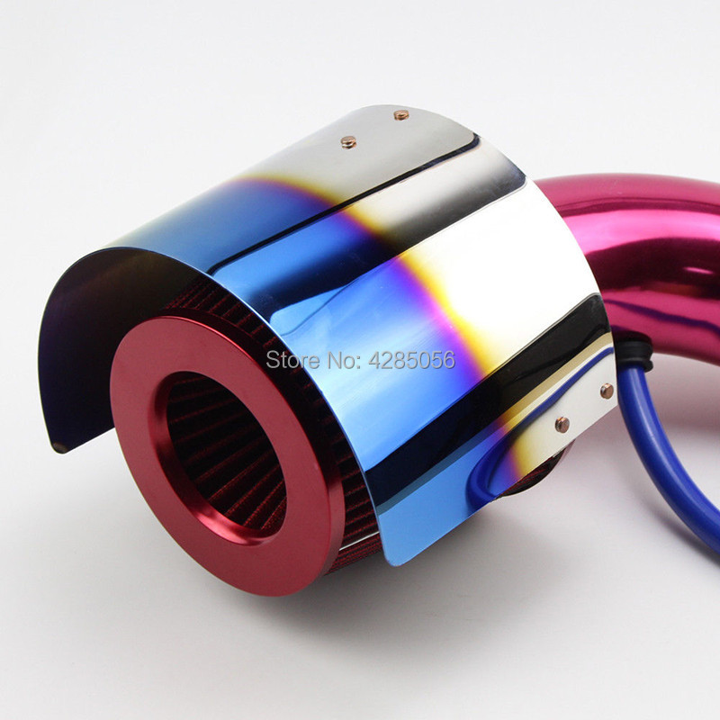 Stainless Steel Neochrome Racing Car Cold Air Intake Cone Sport Air Filter Cover Heat Shield