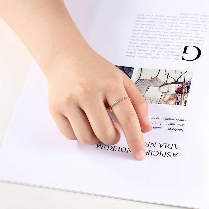 1 มม.กว้างฝีมือ Zircon แหวนไทเทเนียมคุณภาพสูงเหล็กของขวัญเครื่องประดับงานแต่งงานแหวนขายส่ง