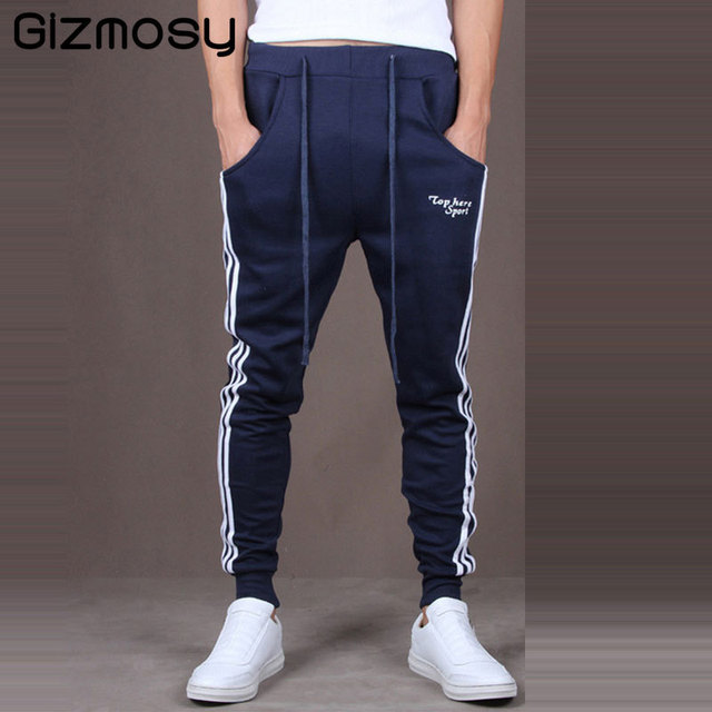 958f2a8054 US $12.21 26% OFF|2017 Men Pants Good Quality Cotton Joggers Casual Harem  Sweatpants Sporting Man Tracksuit Bottoms Casual Trousers BN090 1 -in Harem  ...