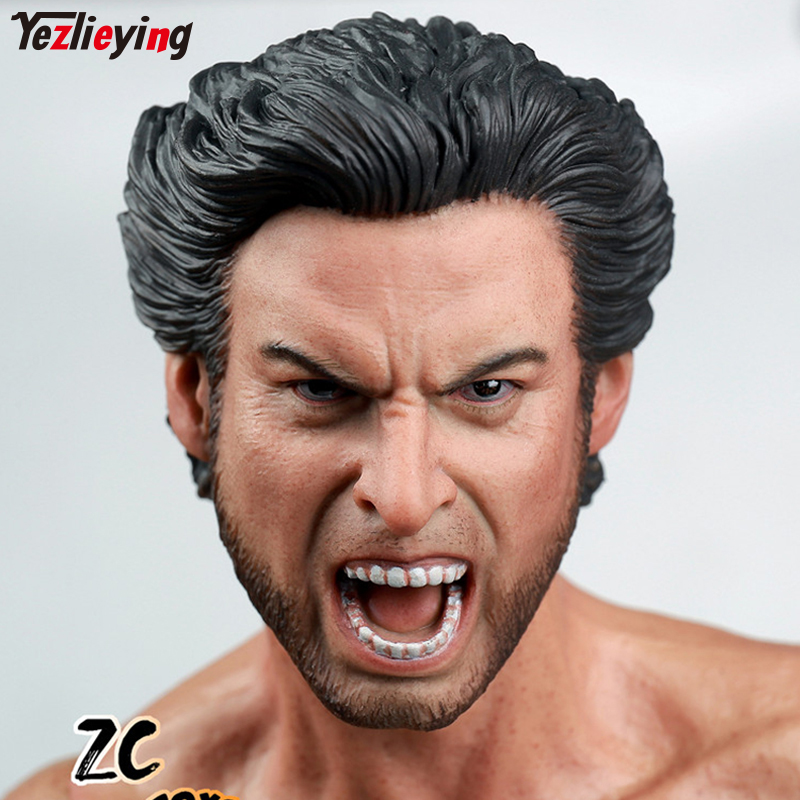 Zctoys 1/6 Male Wolverine Head Scuplt Carving Chief X Men Roaring Version Hugh Jackman Fit 12 Inch Body Muscle Action Figure