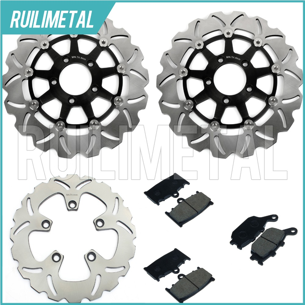 Full Set Front Rear Brake Discs Rotors + Pads for Suzuki SV 1000 03 04 05 06 07 SV1000S K3K4 K5 K6 K7 New 25w ei ferrite core input 220v vertical electric power monophase transformer