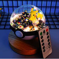 Anime XY pokeball pikachu figures doll Action Figures Christmas Valentine's day gifts Toys Collection LED remote control light