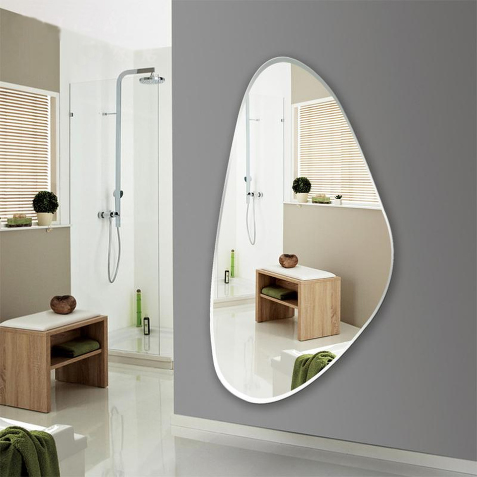 Frameless Fitting Mirror Bedroom Decoration Mirror Wall Hanging Full Length Mirror Entrance Floor Mirror Wx8231137 Bath Mirrors Aliexpress