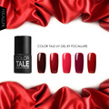 FOCALLURE Color Tale  Nail Gel Polish  Red Series Wine Red UV Gel Varnish fingernail polish vernis semi permanent