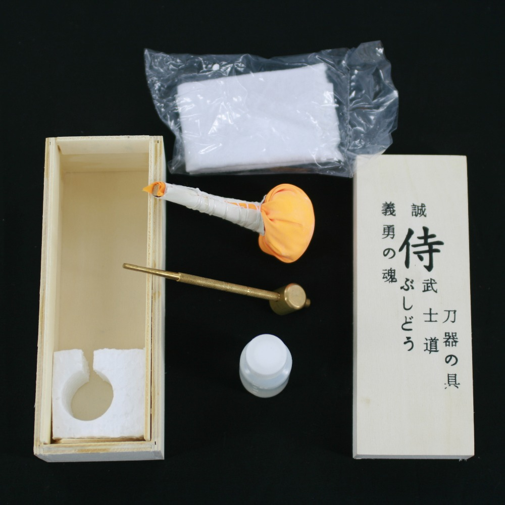 Free Shipping Japanese Samurai Katana Sword Maintenance Cleaning Oil Kit with Storage Box Free Shipping Japanese Samurai Katana Sword Maintenance Cleaning Oil Kit with Storage Box