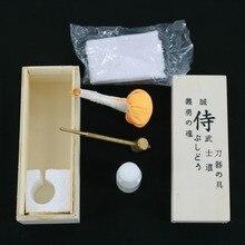 Бесплатная доставка японский самурайский меч катана меч обслуживания очистки масла комплект с коробка для хранения