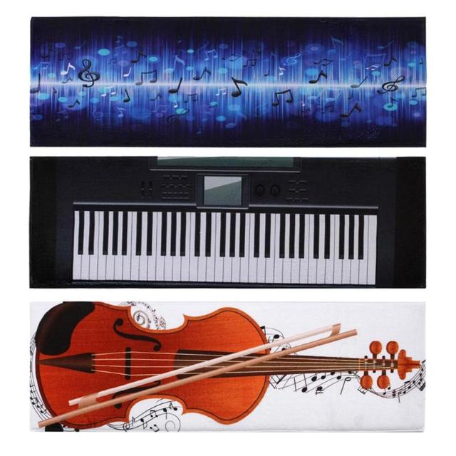 Modern Piano Keys Musical Note Bathroom Carpet Non Slip Bath Mats 40 120cm Rug